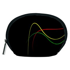 Line Red Yellow Green Accessory Pouches (Medium)