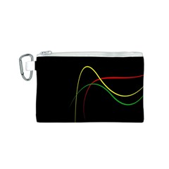 Line Red Yellow Green Canvas Cosmetic Bag (S)