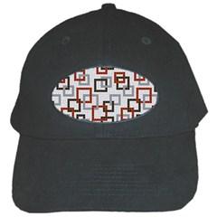 Links Rust Plaid Grey Red Black Cap