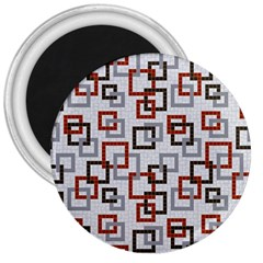 Links Rust Plaid Grey Red 3  Magnets