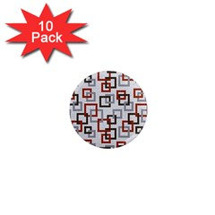 Links Rust Plaid Grey Red 1  Mini Magnet (10 pack)