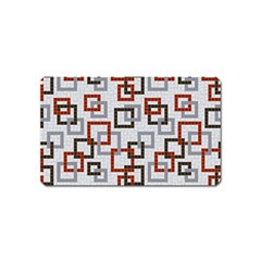 Links Rust Plaid Grey Red Magnet (Name Card)