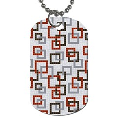 Links Rust Plaid Grey Red Dog Tag (Two Sides)