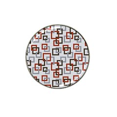 Links Rust Plaid Grey Red Hat Clip Ball Marker