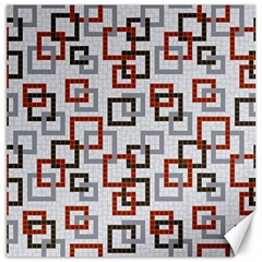Links Rust Plaid Grey Red Canvas 12  x 12