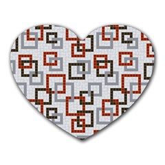 Links Rust Plaid Grey Red Heart Mousepads