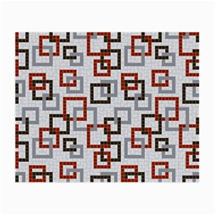 Links Rust Plaid Grey Red Small Glasses Cloth (2-Side)