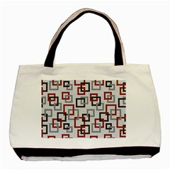 Links Rust Plaid Grey Red Basic Tote Bag (Two Sides)