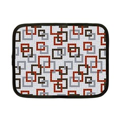 Links Rust Plaid Grey Red Netbook Case (Small)