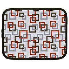 Links Rust Plaid Grey Red Netbook Case (XL)