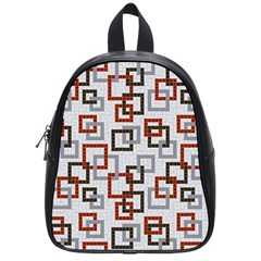 Links Rust Plaid Grey Red School Bags (Small)