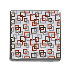 Links Rust Plaid Grey Red Memory Card Reader (Square)