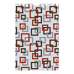 Links Rust Plaid Grey Red Shower Curtain 48  x 72  (Small)