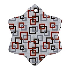 Links Rust Plaid Grey Red Ornament (Snowflake)