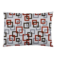 Links Rust Plaid Grey Red Pillow Case (Two Sides)