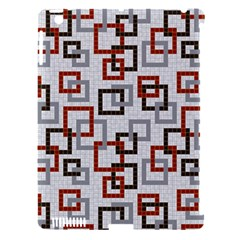 Links Rust Plaid Grey Red Apple iPad 3/4 Hardshell Case (Compatible with Smart Cover)