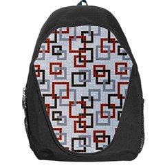 Links Rust Plaid Grey Red Backpack Bag