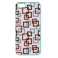 Links Rust Plaid Grey Red Apple Seamless iPhone 5 Case (Color)