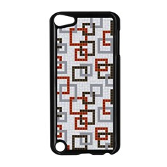 Links Rust Plaid Grey Red Apple iPod Touch 5 Case (Black)