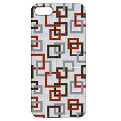 Links Rust Plaid Grey Red Apple iPhone 5 Hardshell Case with Stand