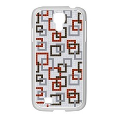 Links Rust Plaid Grey Red Samsung GALAXY S4 I9500/ I9505 Case (White)