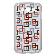 Links Rust Plaid Grey Red Samsung Galaxy Grand DUOS I9082 Case (White)
