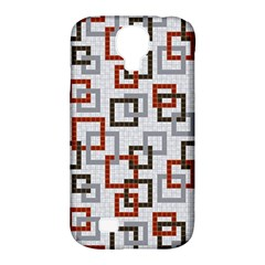Links Rust Plaid Grey Red Samsung Galaxy S4 Classic Hardshell Case (PC+Silicone)