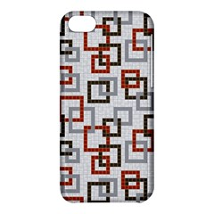 Links Rust Plaid Grey Red Apple iPhone 5C Hardshell Case
