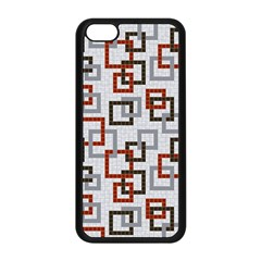 Links Rust Plaid Grey Red Apple iPhone 5C Seamless Case (Black)