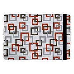 Links Rust Plaid Grey Red Samsung Galaxy Tab Pro 10.1  Flip Case