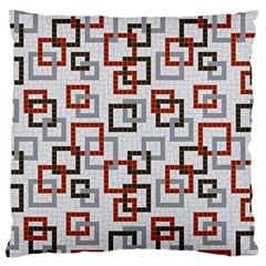 Links Rust Plaid Grey Red Large Flano Cushion Case (Two Sides)