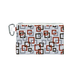 Links Rust Plaid Grey Red Canvas Cosmetic Bag (S)