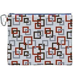 Links Rust Plaid Grey Red Canvas Cosmetic Bag (XXXL)