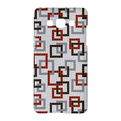 Links Rust Plaid Grey Red Samsung Galaxy A5 Hardshell Case