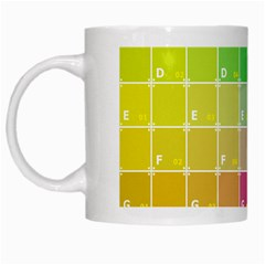 Number Alphabet Plaid White Mugs