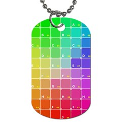 Number Alphabet Plaid Dog Tag (Two Sides)