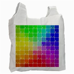 Number Alphabet Plaid Recycle Bag (One Side)