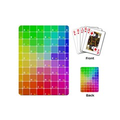 Number Alphabet Plaid Playing Cards (Mini)