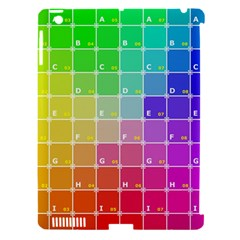 Number Alphabet Plaid Apple iPad 3/4 Hardshell Case (Compatible with Smart Cover)