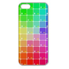 Number Alphabet Plaid Apple Seamless iPhone 5 Case (Clear)