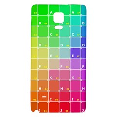 Number Alphabet Plaid Galaxy Note 4 Back Case