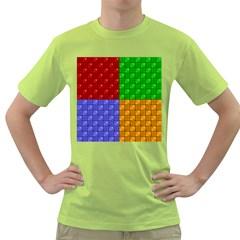 Number Plaid Colour Alphabet Red Green Purple Orange Green T-Shirt