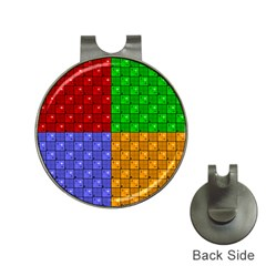 Number Plaid Colour Alphabet Red Green Purple Orange Hat Clips with Golf Markers