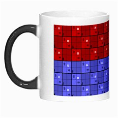 Number Plaid Colour Alphabet Red Green Purple Orange Morph Mugs