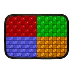 Number Plaid Colour Alphabet Red Green Purple Orange Netbook Case (Medium)