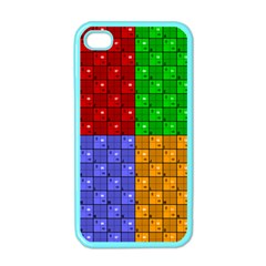 Number Plaid Colour Alphabet Red Green Purple Orange Apple iPhone 4 Case (Color)