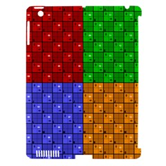 Number Plaid Colour Alphabet Red Green Purple Orange Apple iPad 3/4 Hardshell Case (Compatible with Smart Cover)