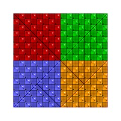 Number Plaid Colour Alphabet Red Green Purple Orange Acrylic Tangram Puzzle (6  x 6 )