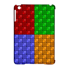 Number Plaid Colour Alphabet Red Green Purple Orange Apple iPad Mini Hardshell Case (Compatible with Smart Cover)
