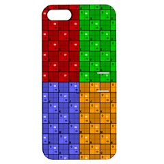 Number Plaid Colour Alphabet Red Green Purple Orange Apple iPhone 5 Hardshell Case with Stand